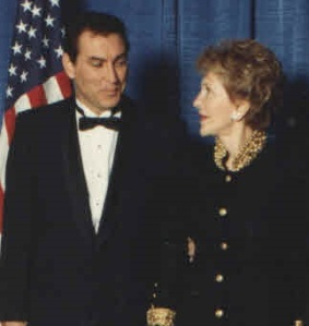 Doug Wead and Nancy Reagan in 1994.