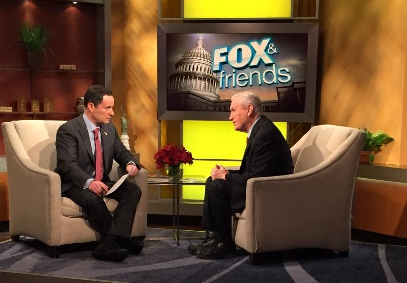 Author Doug Wead sits on FOX & Friends with Brian Kilmeade