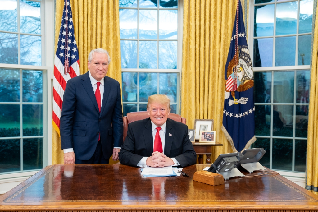 Historian, Bestselling Author, Doug Wead, meets with President Donald J. Trump, in the oval office, at the white house