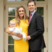 Eric Trump, son of US President, Donald Trump, with wife Lara Trumo, and son, Luke Trump