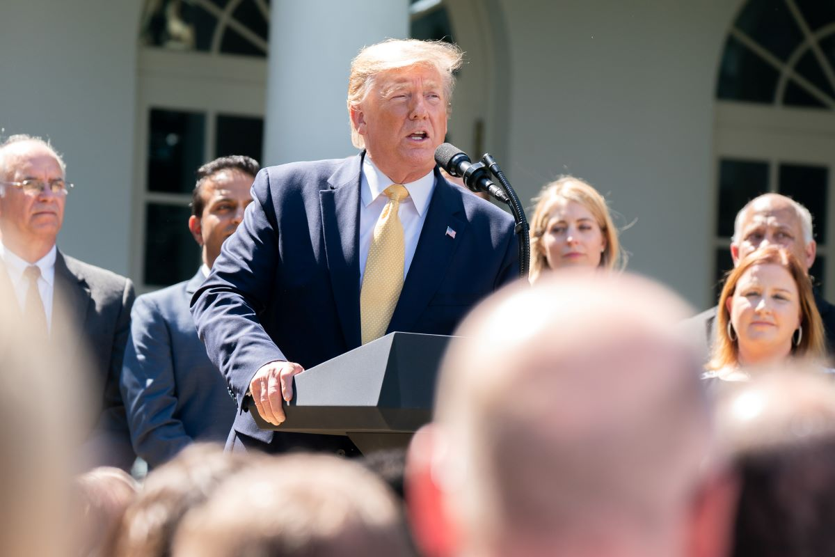 President of the U.S., Donald J. Trump, talking about healthcare, in the Rose Garden, at the White House