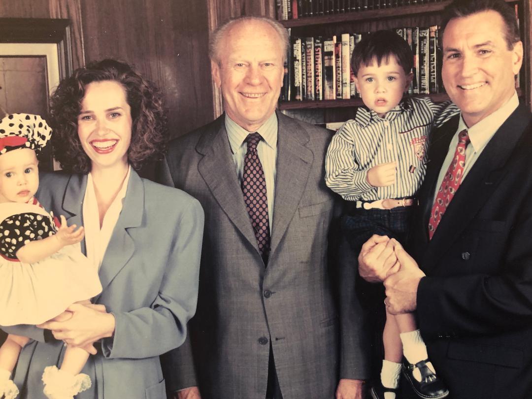 Doug Wead, Myriam Wead, Joshua Wead, President Gerald Ford, presidential historian